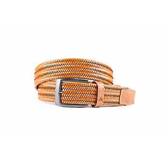 Bronze elastischer Gürtel aus hochwertigem Leder