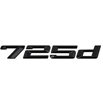Gloss Black BMW 725d Car Model Rear Boot Number Letter Sticker Decal Badge Emblem For 7 Series E38 E65 E66E67 E68 F01 F02 F03 F04 G11 G12