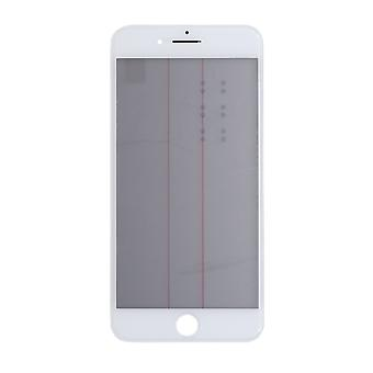 4 In 1 White Top Glass & Frame For iPhone 7 Plus   iParts4u