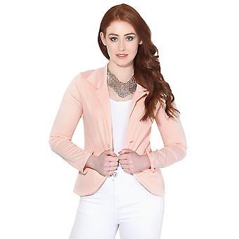 KRISP Womens Slim Fit Jacka Casual Smart Blazer Jersey Suit Ladies Office Coat