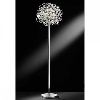 WOFI Além elegante lâmpada de piso led em acabamento prata 3366.01.70.7000