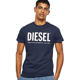 Diesel T-diego Printed Logo Cotton Navy T-shirt