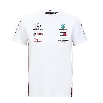 Mercedes AMG Petronas Barn Kopi Driver T-skjorte | Hvit | 2020