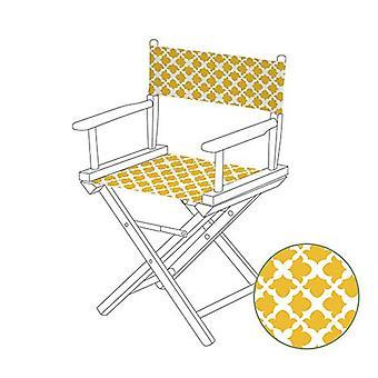 Gardenista® Arabesque mosterd ontwerp vervanging bestuurdersstoel canvas cover