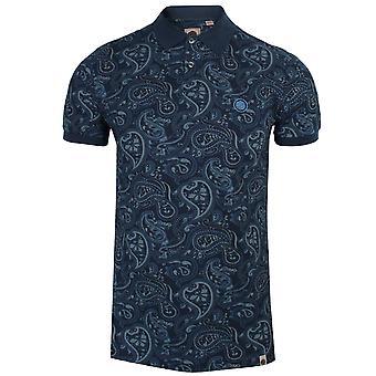 Homens e apos muito verdes;s paisley imprimir camisa polo marinha