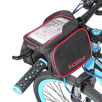 """6.2"""" Mobile phone bicycle front bag frame case tube touch screen bilateral bag"""