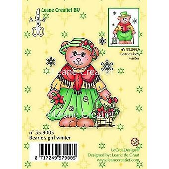 LeCrea Clear Stamp - Bearie's Girl Winter