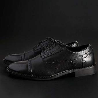 Duca di Morrone Original Men All Year Lace Up - Black Color 30436