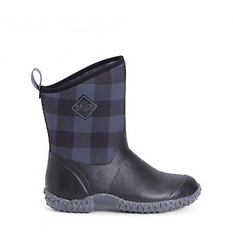 Muck Boots Muckster Ii Mid Ladies Rubber Boots Black/grey Plaid