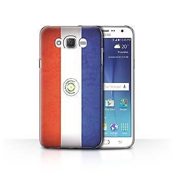 STUFF4 Case/Cover for Samsung Galaxy J7 (2016)/Paraguay/Paraguayan/Americas Flag