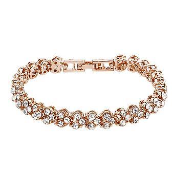 Bracelet classique avec strass - Rosé