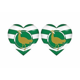 2x Klistermärke klistermärke flagga hjärta rike storbritannien storbritannien