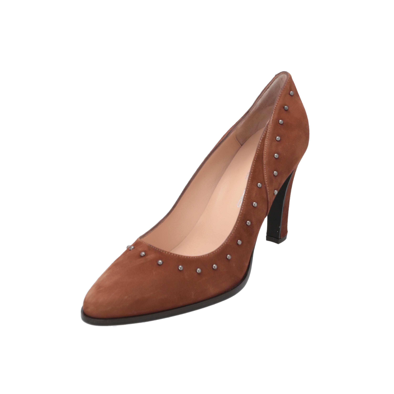 Brenda Zaro Bibi Damen Pumps Braun High-Heels Stilettos Absatz-Schuhe SByIK