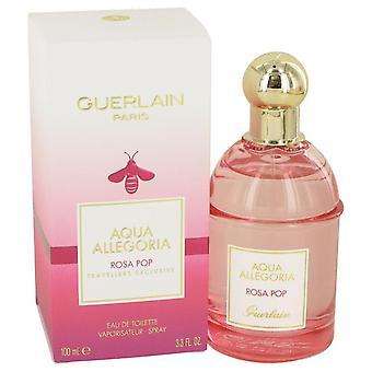 Aqua Allegoria Rosa Pop Eau De Toilette Spray By Guerlain 3.3 oz Eau De Toilette Spray