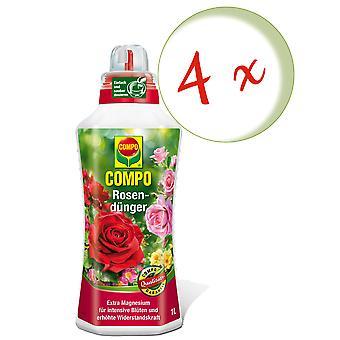 Sparset: 4 x COMPO Rosendünger, 1 Liter