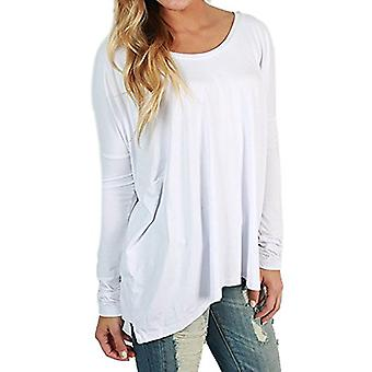 Piko Women's Famous Long Sleeve Bamboo Top Loose Fit, Bleach White, Size Large