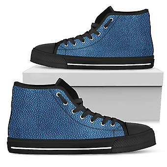 High Top Shoes | Leather Print (Black)