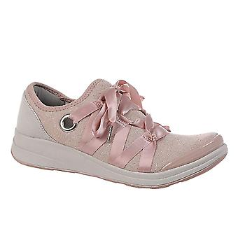 BZees Womens Inspire Fabric Low Top Lace Up Fashion Sneakers