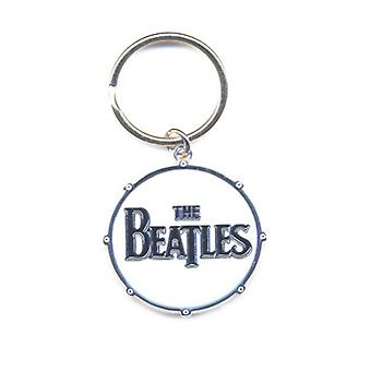 The Beatles Keyring Keychain Drum band Logo new Official metal