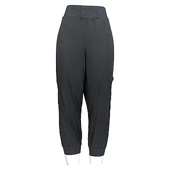 Anybody Women's Petite Pants Jogger Style w/ Cargo Pockets Black A351288