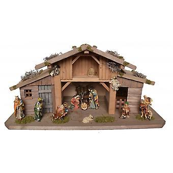 Crib Nativity Christmas Nativity barn ADAM wood crib