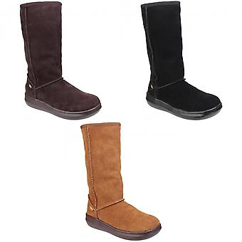 Rocket Dog Sugardaddy Womens / Dames Leer Pull On Boot