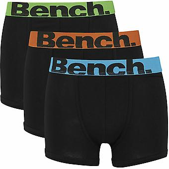 Bench Action 3 Pack Trunk Boxer Shorts Black 83