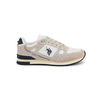 U.S. Polo Assn. - Skor - Sneakers - FERRY4083W8-SM1-WHI - Män - vit, vete - EU 44