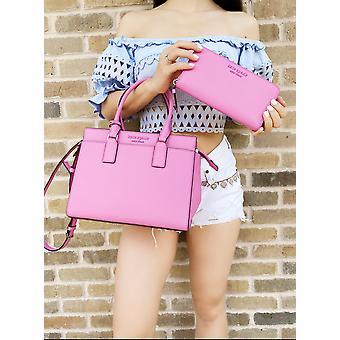 Kate spade cameron street medium satchel bright peony pink + large wallet
