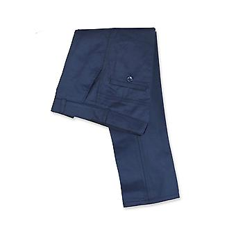 Designer Slim Fit Boys Navy Blue Chino Trousers