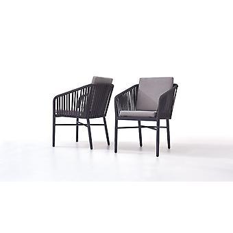 Rope Stuhl U, 2 Stück - anthrazit