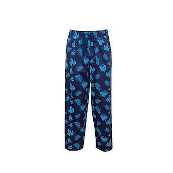 Cyberjammies Dylan 6510 Männer's blau Mix Palm Leaf Print Pyjama Hose