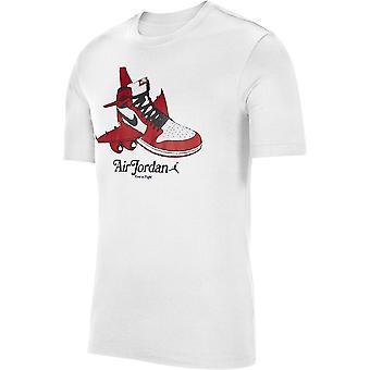 ナイキジョーダングラフィッククルーティCN3596100ユニバーサルオールイヤーメンTシャツ