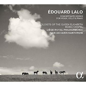 Lalo / Liege Royal Philharmonic / Kantorow, Jean-Jacques - Lalo: Concertante Works for Violin Cello & Piano [CD] USA import