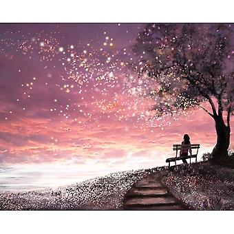 Modern Picture By Numbers Frame Colorful Autumn Diy Painting - By Numbers Kit Landscape