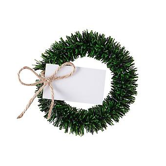 Wreath Name Place Cards - Rustic Christmas Place Settings Christmas Table