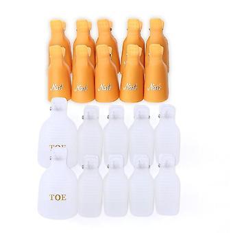 Plástico Nail Art Soak Off Cap Clips - UV Gel Polonês Removedor Wrap Tool Fluid para Remoção de Manicure verniz