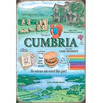 Cumbria Metal Sign