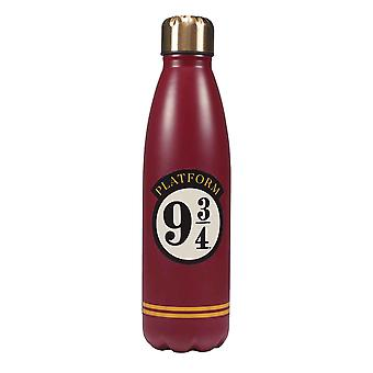 Harry Potter Water Bottle Platform 9 3/4 Logo new Official Metal Red 500ml