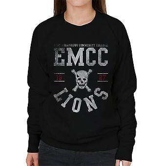 East Mississippi Community College Light Lions Skull Logo Women's Sweatshirt