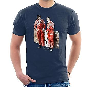 Motorsport Bilder James Hunt & Niki Lauda Südafrika GP 1976 Herren's T-Shirt