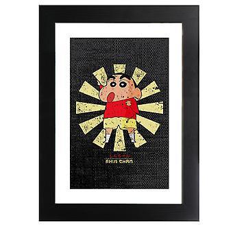 Crayon Shin Chan Retro Japanese Framed Print