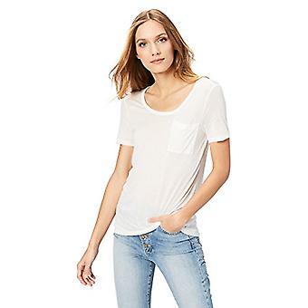 Brand - Daily Ritual Women's Super Soft Modal Semi-Sheer Pocket T-Shir...