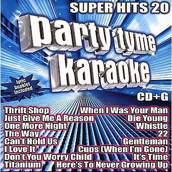 Party Tyme Karaoke - Super Hits 20 [CD] USA import