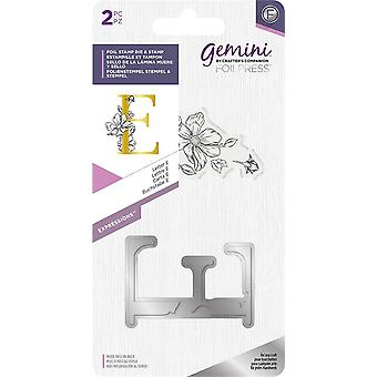 Lettre Gemini E Expressions Foil Stamp Die & Timbre