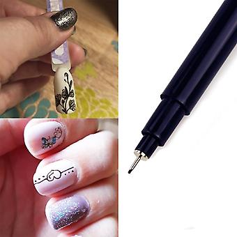 Nail Art Graffiti Pen, Waterproof Painting Drawing Liner Brush Flower Pattern