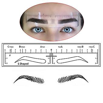 Microblading Eyebrow Stencils Stickers Permanent Makeup Supplies Disposable Eyebrow Mold Template Drawing Guide