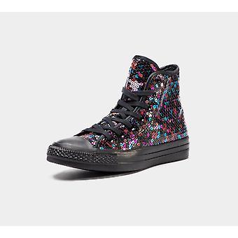 Converse Ctas Hi 562443C Black/Blue/Cherry Red Womens Shoes Boots