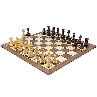 Sentinel Rosewood and Walnut Chess Set