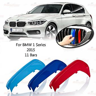 BMW 1 Serie 2015 11 Bars Clip In Grill M Power Kidney Stripes Cover